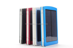 wholesale 10000mAh high capacity solar charger portable multifunctional single/dual USB port(s) solar power bank for mobile