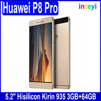 "Huawei P8 Huawei Ascend P8 Hisilicon Kirin 935 Octa Core Android 5.0 3GB RAM 64GB ROM 13MP 5.2"" 1080P FDD-LTE 4G GRA-UL10 Phone"