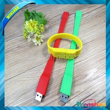 silicone bracelet usb flash drive wrist band usb flash drive hot selling