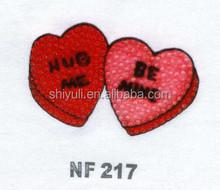 heart shape iron on rhinestone transfer motif for t-shirt