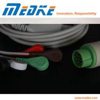 TUV CE Fukuda Denshi 5-Lead ECG cable