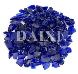 colored recycled 9mm-20mm glass chips