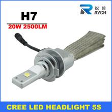 5S 2500lm led car headlight Kit H7 H11 9005 9006 H13 9004 9007 H4 led car headlight