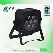 LED Stage Lights 7*8w RGBW Remote Control Party Par64 Lighting LED Slim Par