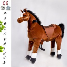 Dalian Best EN71 ASTM CE Best Products For Import Walking Animal Rides For Sale, Walking Animal Ride On Toy Brown Horse