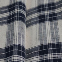 soft handmade natural woven yarn dyed cotton plaid fabric