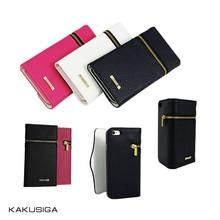 Kaku professional pu leather flip case for samsung galaxy s4