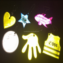 2015 new customized promotion safety reflective mobile phone key chain