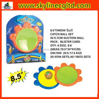 plastic funny suction velcro ball game catch set toy
