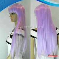 Lolita 70cm wavy layer long Lilac Light Purple Cosplay Wig/long brown layered wigs hair