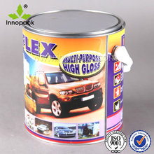 custom printed tin can 5 liter with plastic handle for paint