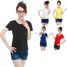 TD58 woman 200g cotton slim T-shirt wholesale blank t-shirt plain t-shirt