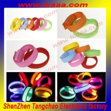 Logo artwork printed custom colored bracelet with led lights