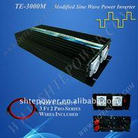 3000W Modified Sine Wave Power Inverter 12vdc to 220vac, 230vac, 240vav