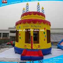 Theme printing inflatable bouncer with velcro art panels d128