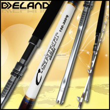 Deland New White Color Boat Fishing Rod , Fuji Parts One And A Half Of Pieces Boat Fishing Rod