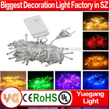 CE ROHS approved china christmas light low voltage led christmas lights 10m 100 leds with EU/US Plug