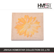 Latest design hot sale beautiful yellow flower oil painting