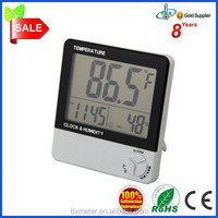 Digital LCD Temperature And Humidity Moisture Sensor Meter Thermometer Clock Alarm Gift