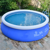 Family loved new inflatable above ground swimming pool