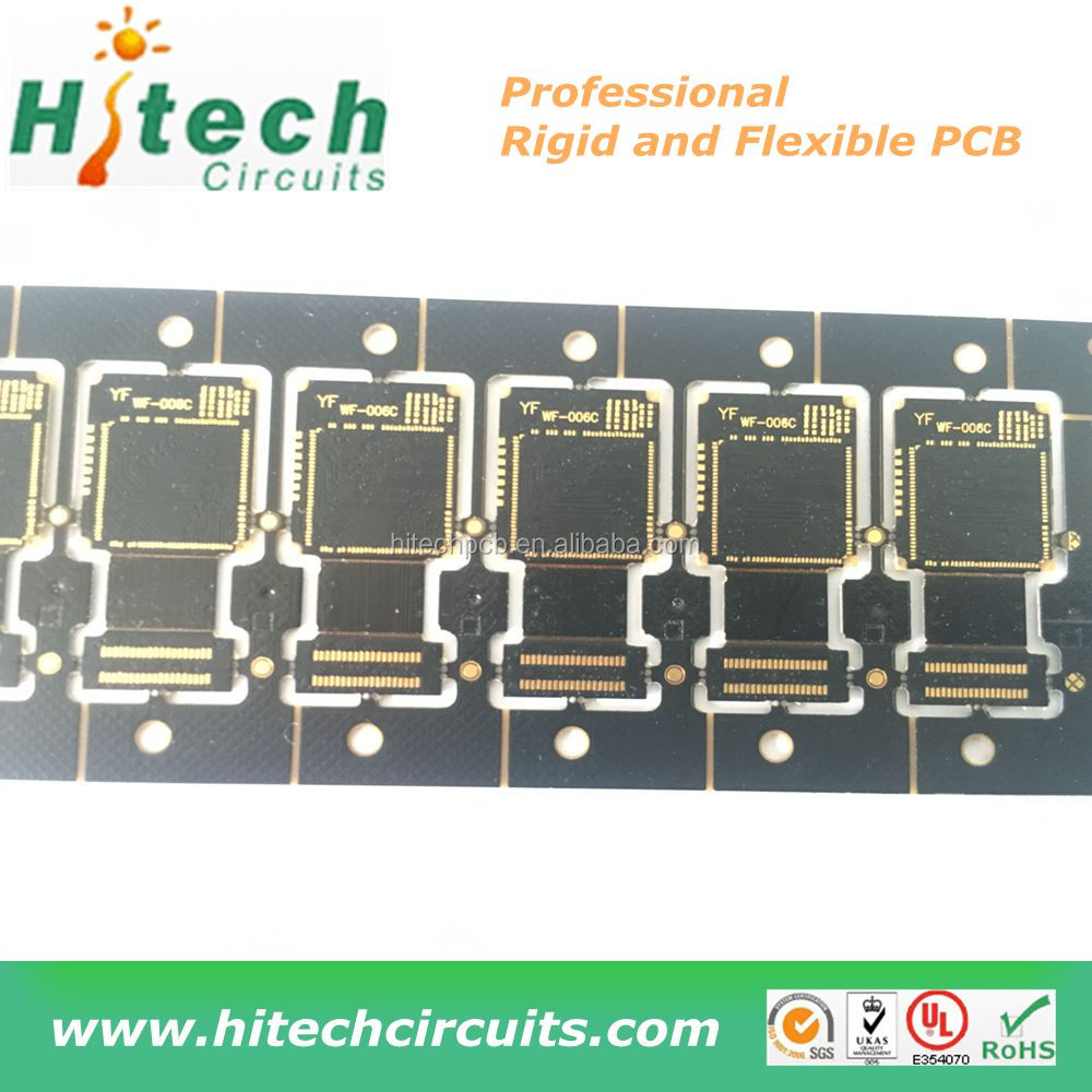 Rigid Flex Pcb Fpc Printed Circuit Board With Black Solder Mask And Quality Laser Cutting Machines For Product Description