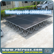 RK Custom easy install aluminum outdoor concert stage sale/portable modular stage for sale/promotional stage
