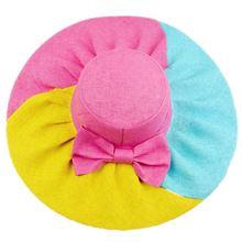 Summer sun mixed colors hat large brimmed sun hat child Ms. UV papyrus beach hat parent-child cap