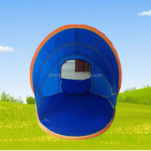 Colorful sunny tent outdoor beach shelter