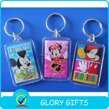 promotional clear custom blank souvenir plastic photo frame key chain picture insert logo plastic keyring acrylic keychain