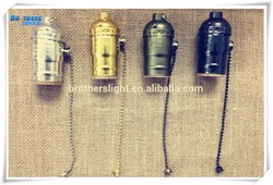 Aluminum Lampholder - Zipper , E27 Aluminum- Style Antique - lamp Edison - vintage Design