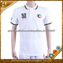 blanca bordada camiseta polo para los hombres