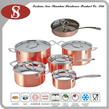 3Ply Hot selling copper cookware set