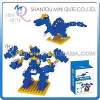 Mini Qute DIY change Robot Spinosaurus Dinosaur Diamond nano plastic building blocks bricks model educational toy NO.BY 8302A