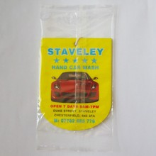 Custom Perfume Cotton Paper Car Air Freshener