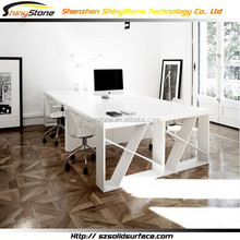Rectangular shape top solid surface office consult desk