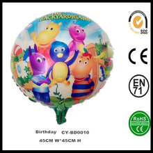 """Wholesale Inflatable 18"""" Round Shaped The Backyardigans Happy Birthday Helium Foil Balloon,Happy Birthday Party Balloon"""