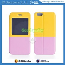 New Stylish Double Color PU Leather+TPU Cover Stand Case For Iphone6