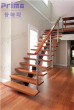 facile installazione cavo interno passo scala ringhiera di legno fai da te