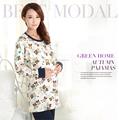 Design de moda primavera chinês mulheres silk nighty pijamas