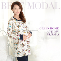 spring fashion design Chinese women silk nighty sleepwear