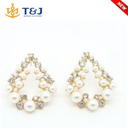 wholesale goods from China fashion girls artificial pearl earrings