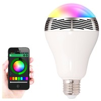 2 in 1 LED Light Bulb Lamp & Wireless Bluetooth 4.0 Speaker E27 Base Music Player Sound Box Lighting with APP Remote Control