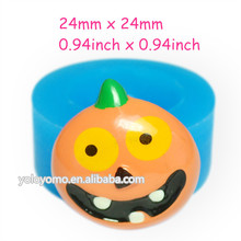 JYL138 Halloween Pumpkin Silicone Mold Hallowmas Mold - Fondant Craft Soap Fimo Clay Miniature Food Soap