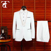 2016 coat pant designs milk white wedding suit for men 2015