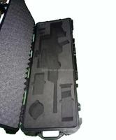 Hard plastic waterproof shockproof military gun case with foam set