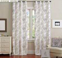 Doris Peony Flower Pattern Printed Bedroom Window Curtains