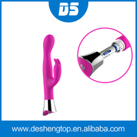 Silicone G-spot Stimulating Vibrator Adult Silicone Sex Toy Silicone strong G-spot and clitoris Massager two motor vibrator