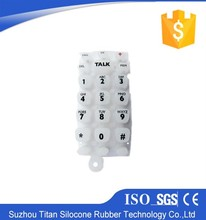 Conductive contact silicon keypad