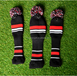 Lovely Knit Golf Head Cover For Golf Clubs