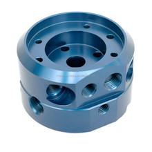 OEM high precision cnc lathe turning parts,Aluminium cnc lathe parts blue anodizing,cnc lathe machined parts
